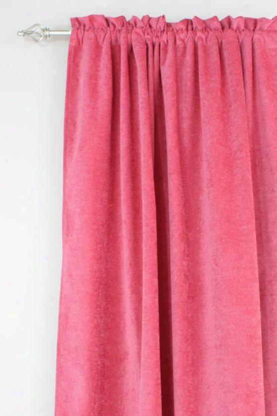 """ccobblestone Collection Curtain Panels - Rod Pocket Lined Panel, 54x96""""x, Energy Raspberryx"""