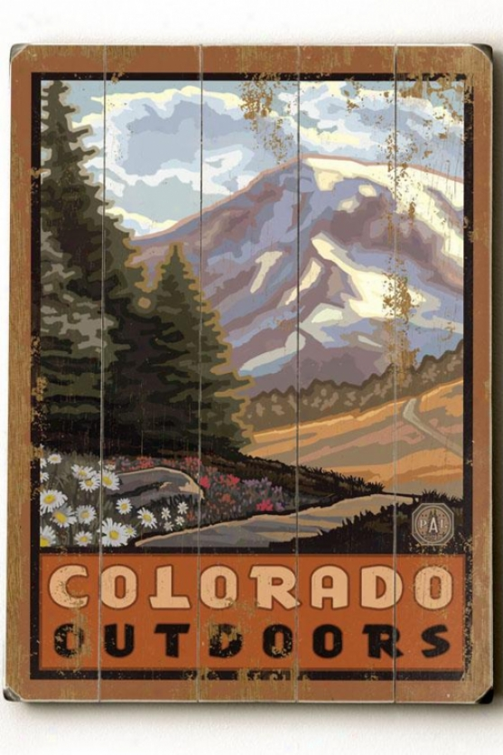 """colorado Outoors - 20""""h X 14""""2w, Multi"""