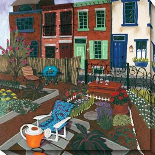 """community Garden Canvas Wall Art - 40""""hx40""""w, Multi"""