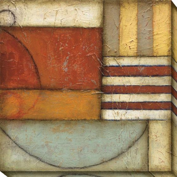 Complete Ii Canvas Wall Art - Ii, Brick Red