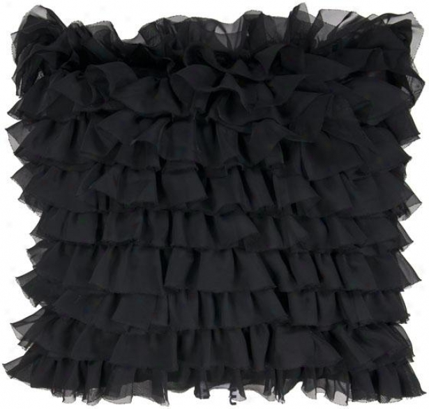 Cora Decorative Pillow - 18hx18w Poly, Black