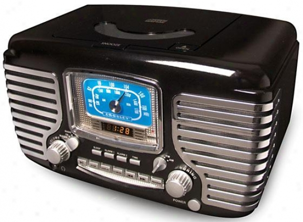 """corsair Cd Call to arms Clock Radio - 11""""wx7""""dx7""""h, Black"""