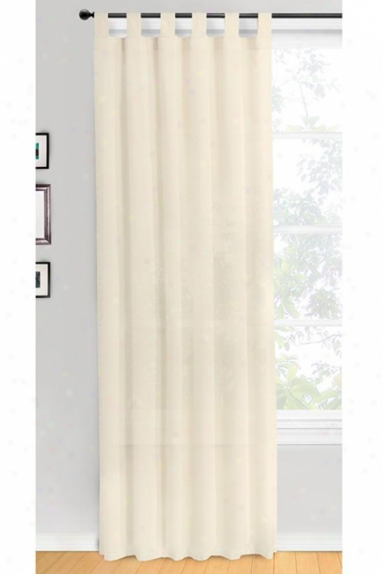 Cottage House Curtain Panel - 40hx84w, Ivory