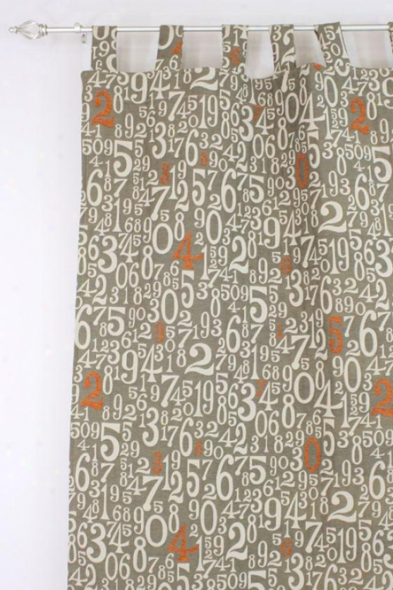 """""""counted Collection Curtain Panels - Tab Top Unlined Panel, 54x108""""""""x, Count On Martin 7 O'clockx"""""""