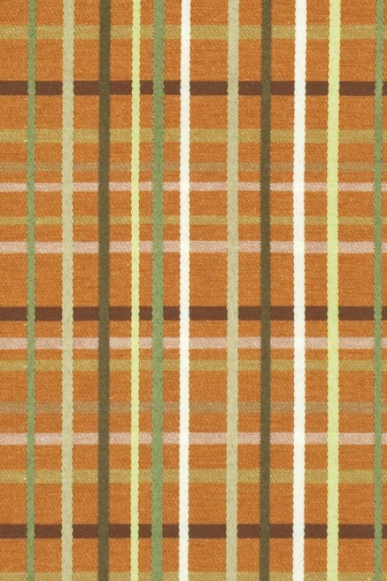 Counted Collection Fabric In the name of The Yard - 1 Yard, Upstream Plaid Coralupstrm Pld Orng