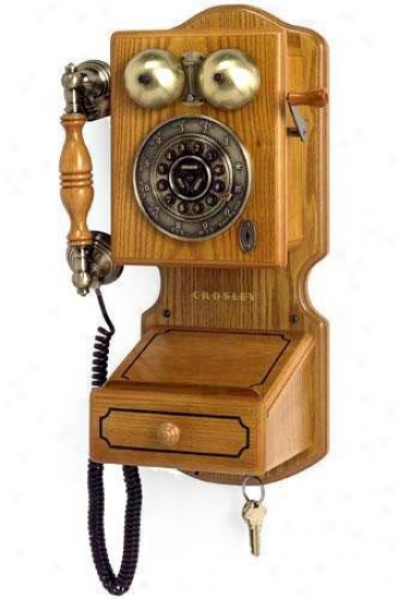 """country Kitchen Wall Phone Ii - 17.5""""hx12.25""""w, Tan"""
