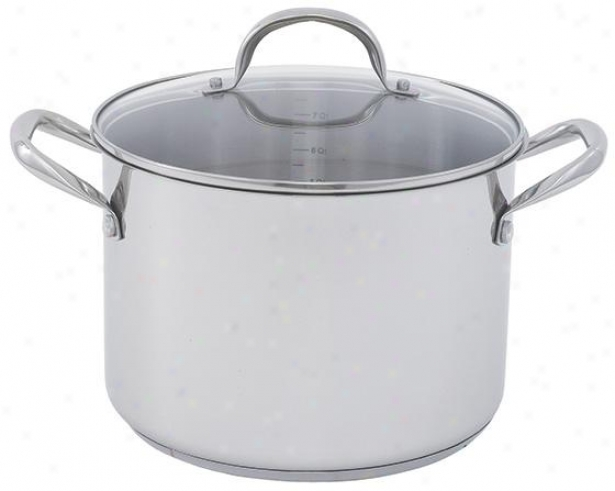 Covered Stockpot - 5x6wx11d, Silver