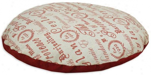 """crestmont Red Collection Pet Bed - 36"""" Rpund, Teahouse Ruby"""