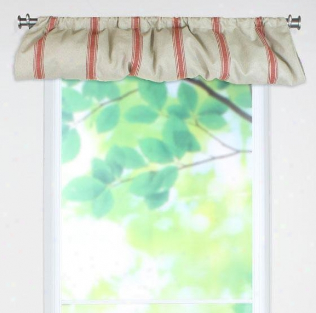 Crestmont Red Collection Valances - Valance Balloon, Teahouse Ruby