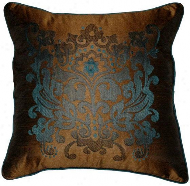 """crestwood Pillow - 18""""x18"""", Brown"""