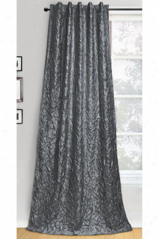 Crankle Curtain Panel - 50hx84w, Silver