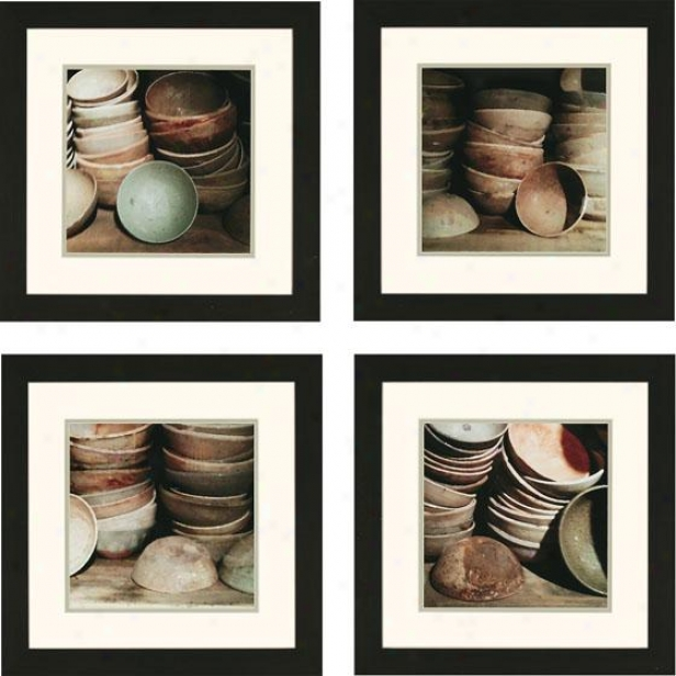 Cupboard Bowls Wall Art - Regular Of Four, Ivory