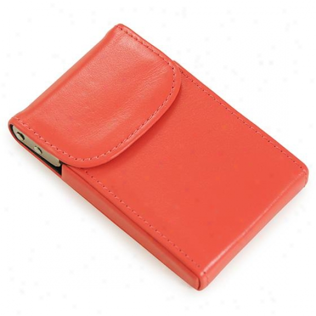 Curacao Leather Card Case - 2hx4w, Sigar Coral