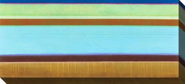 Currents Iv Canvas Wall Art - Iv, Green