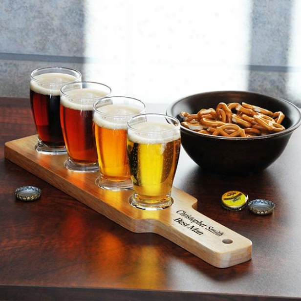 Custom Beer Flight Sampler - 1hxw, Tan