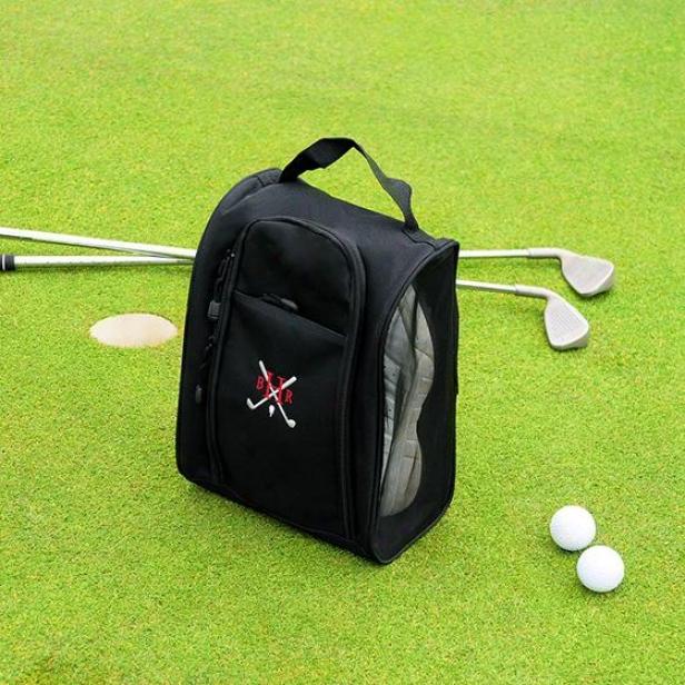 Custom Golf Shoe Bag - 13hx9w, Black