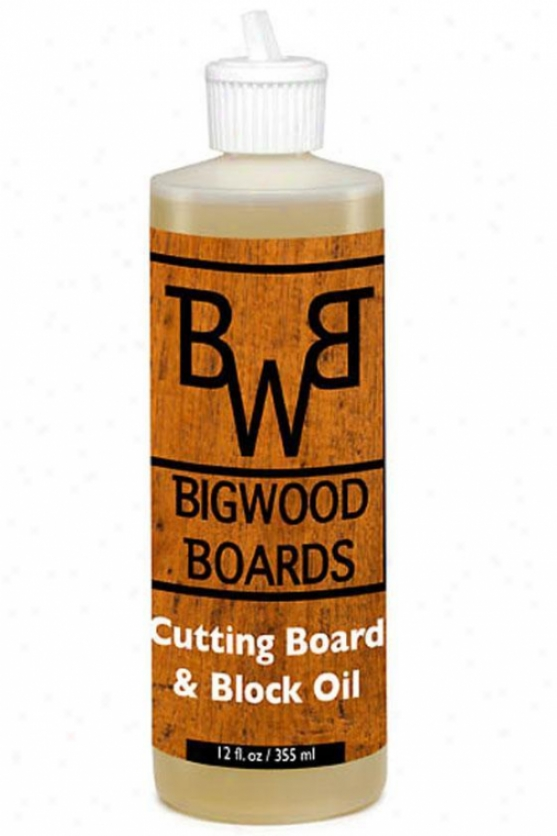 Cutting Board And Block Oil - 12oz., Clear