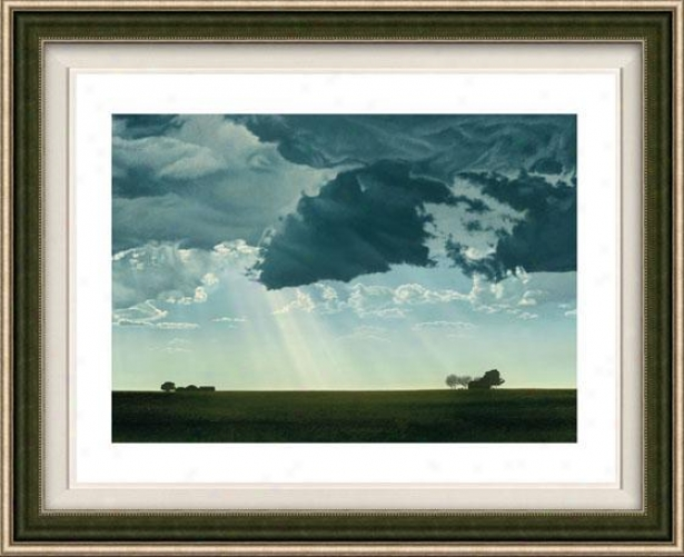 """dark Cloud Framed Wall Art - 32""""nx41""""w, Floatef Silver"""