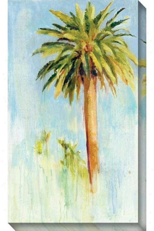 Date Palm I Canvas Wall Art - I, Blue