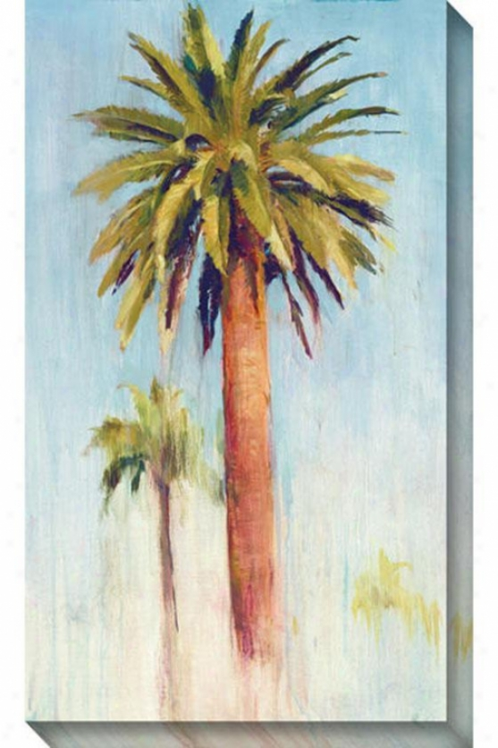 Date Palm Ii Canvas Wall Art - Ii, Blue