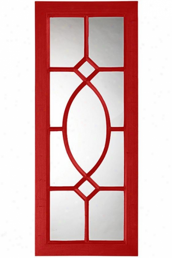 Daytoan Wall Mirror - 53hx21w, Red