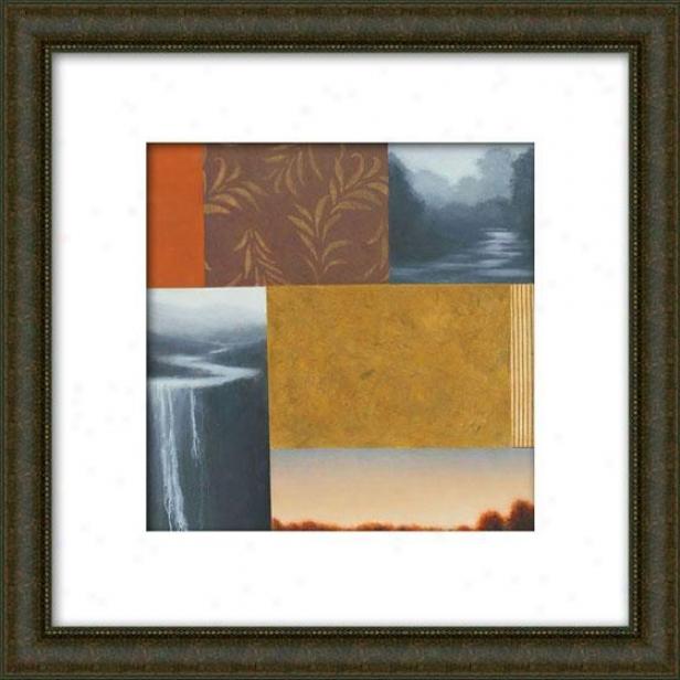 Daytripper Ii Framed Wall Cunning - Ii, Matted Burlwood