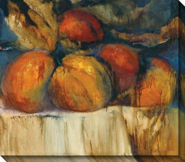 """de Medici Plums Canvas Wall Art - 37""""hx32""""w, Orange"""