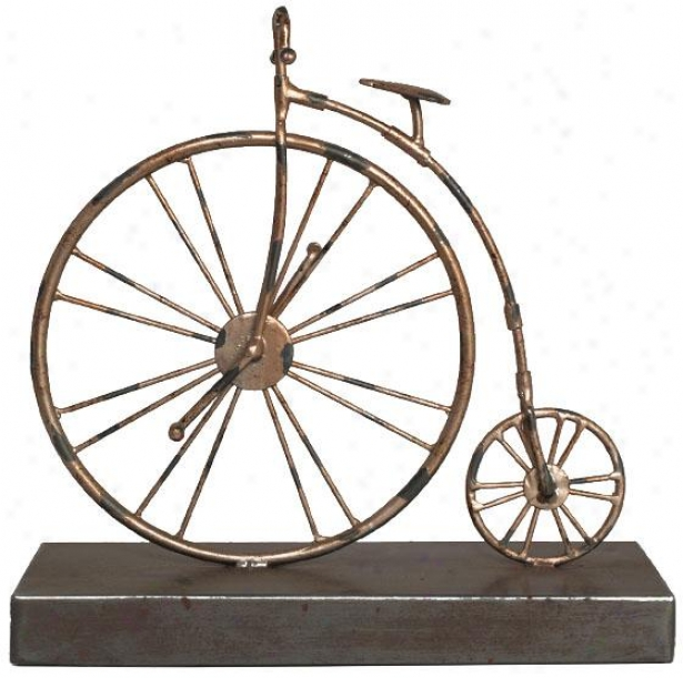 """decorative Bicycle - 10hh X 10""""w, Bronze"""