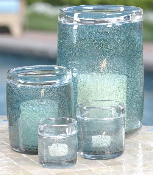 """""""decorative Bubble Glass Jar - 10.25""""""""h, Aqua Blue"""""""
