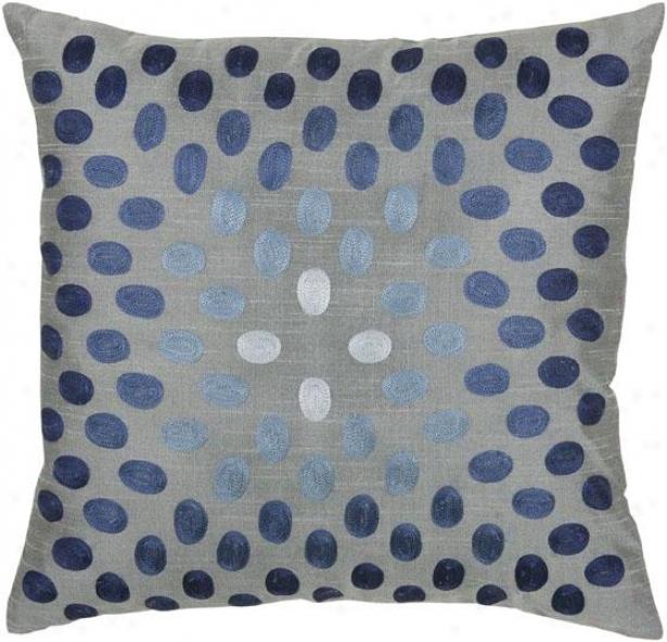 Delaney Pillow - 18hx18w, Gray