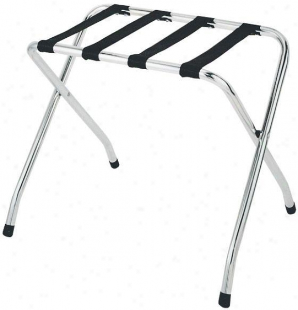 """deluxe Chrome Luggage Rack - 21""""hx26""""w, Silver Chrome"""
