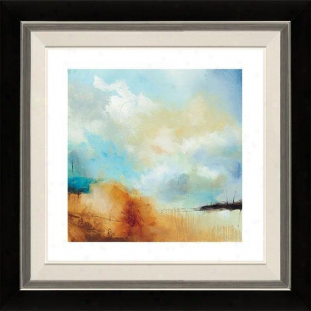 Desert Skkes I Framed Wall Art - I, Flt Black/slvr