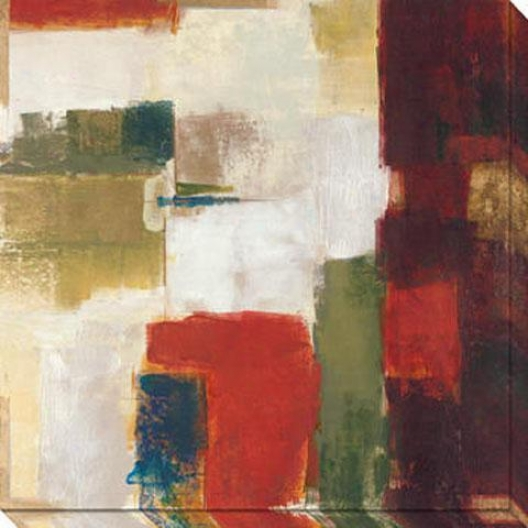 Deviation Ii Canvas Wall Art - Ii, Red
