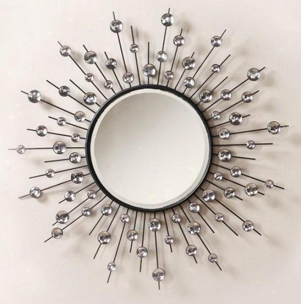 """diamond Mirror - 32"""", Black"""