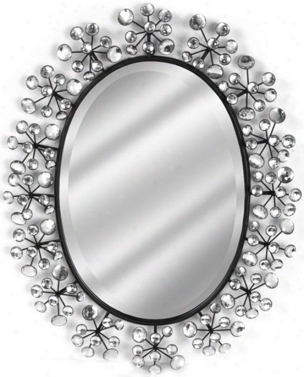 """diamond Oval Mirror - 28""""hx23""""w, Bronze"""