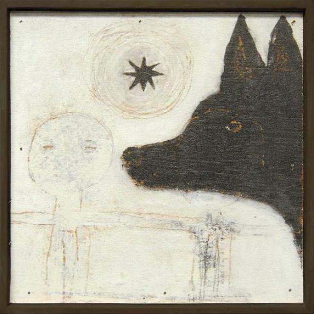 Dog Little Wall Art - 8.25hx8.25w, Brown