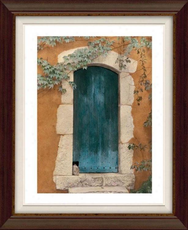 Door Series Iv Framed Wall Art - Iv, Flt Atq Wln/gld
