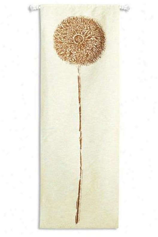 """double Opium Copper Tapestry - 30""""hx88""""w, White"""