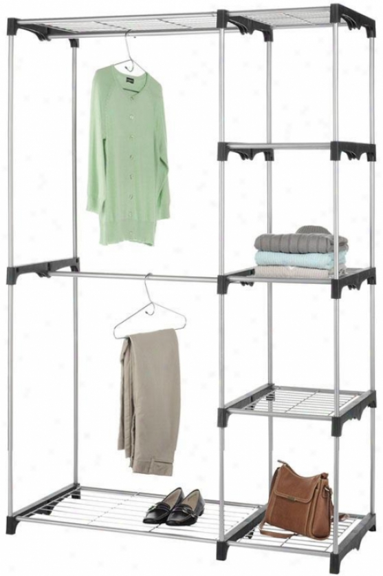 """double Rod Closet - 45""""wx68""""h, Silber"""