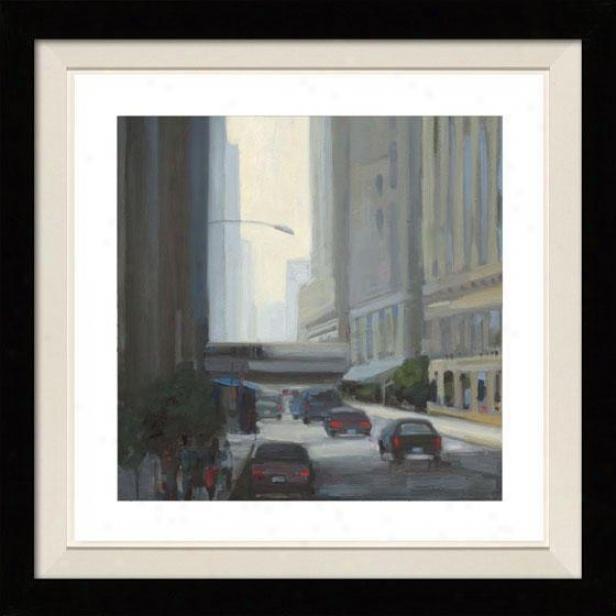 Downtown I Framed Wall Art - I, Floated Black