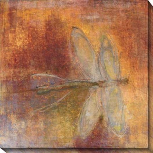 Dragonfly Ii Canvas Wall Art - Ii, Purple