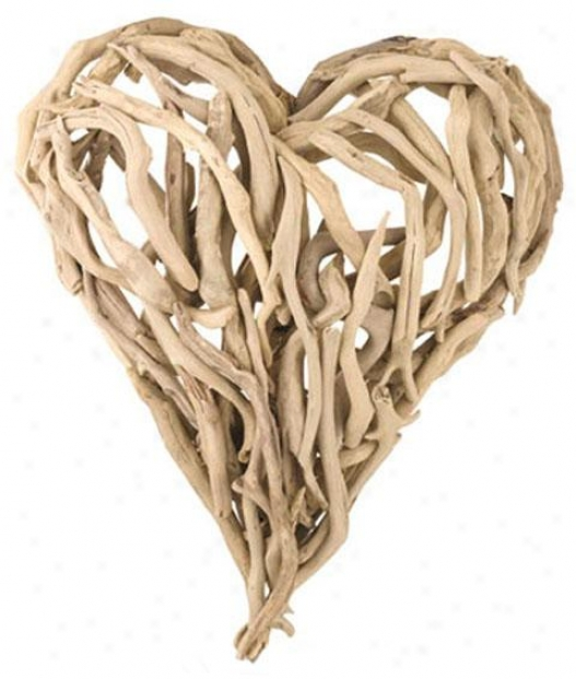 """dfiftwood Heart Wall Art - 16 X 16"""", Ivory"""