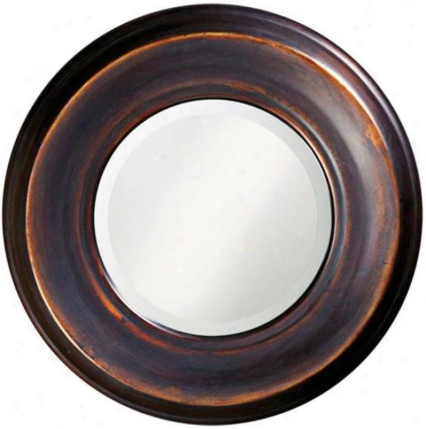 """""""dublin Round Mirror - 33""""""""round X 2""""""""d, Copper"""""""