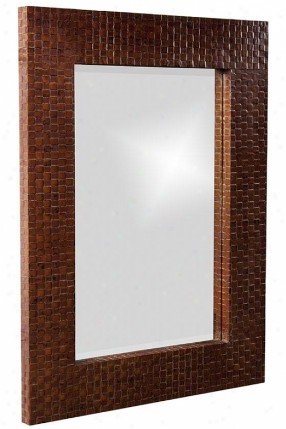 Duncan Wall Mirror - 36hx48w, Brown