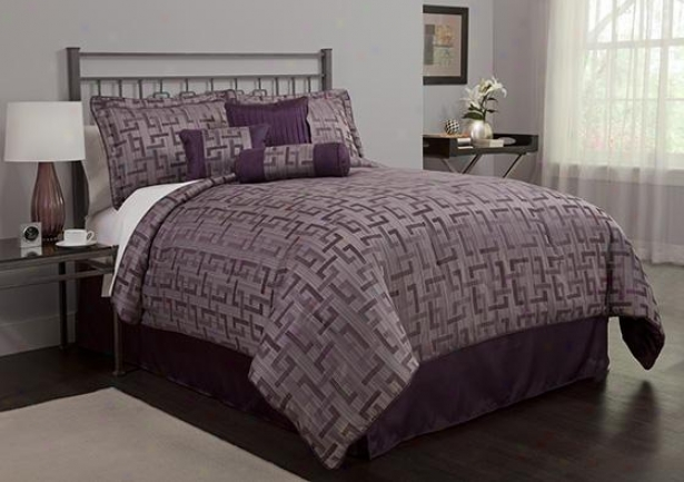 East Lake Comforter Immovable - 7pc King Set, Purpl