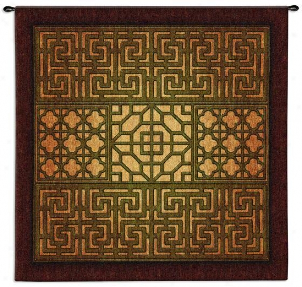 """eastern Lattice Tapestry - 53""""hx53""""w,E arth Tones"""