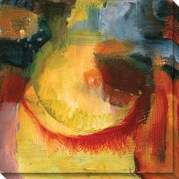 Eccentric Abstraction Iv Canvas Wall Practical knowledge - Iv, Yellow