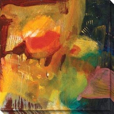 Eccentric Abstraction Ix Canvas Wall Art - Ix, Yellow