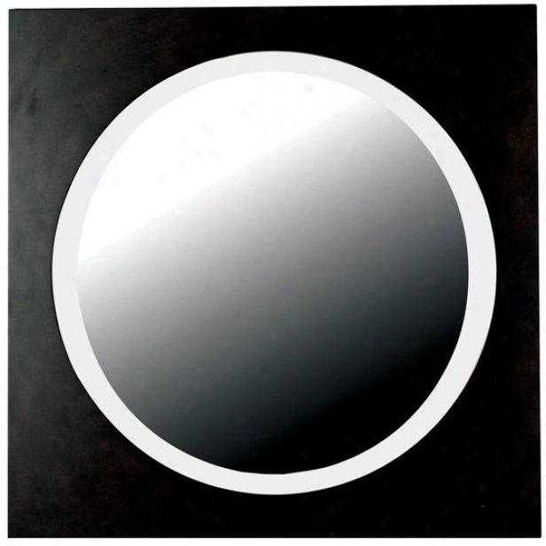 """eclipse Wall Mirror - 34"""" Square, Browj Wood"""