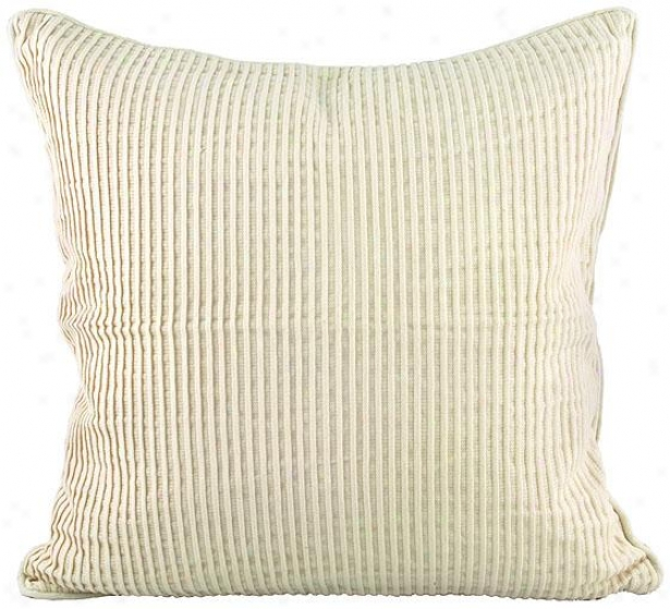 Eco Decorative Pillow - River 18x18, Ivory